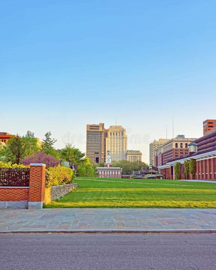 Independence Hall viewed from Independence National Historical P stock photos