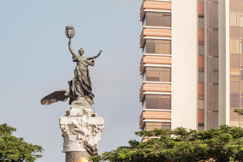 Independence monument in Guayaquil Ecuador. Guayaquil, Ecuador - Aprikl 17, 2016: Monument to the Ecuador independence heroes in Guayaquil royalty free stock photo
