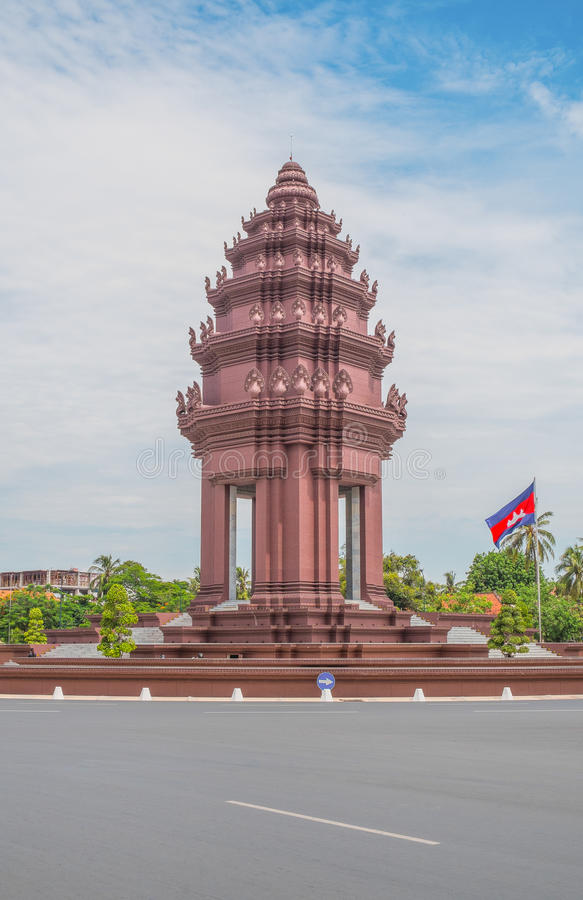 Independence Monument in Phnom Penh stock photography