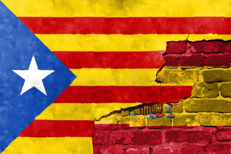 Independence referendum is expected to be held in Catalonia royalty free stock images