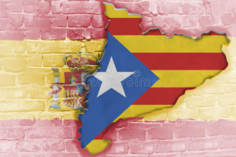 Independence referendum is expected to be held in Catalonia royalty free stock image