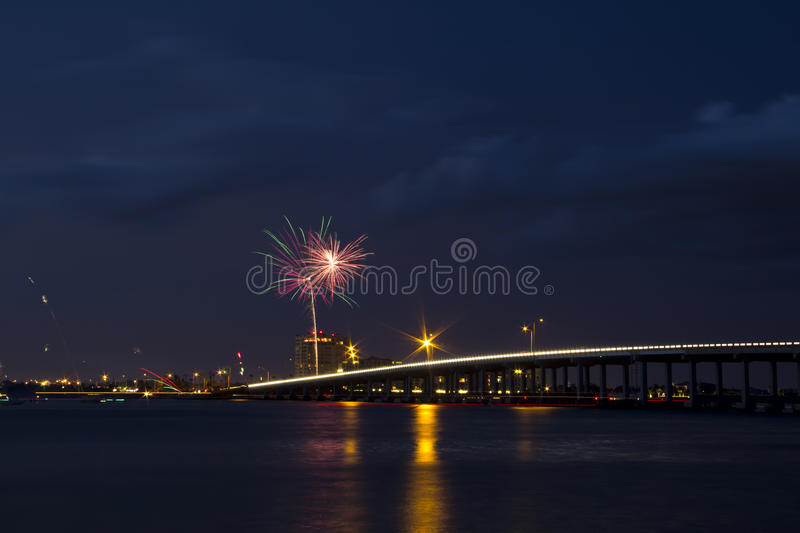 Independence on the River. Independence of the United States is celebrated on the Manatee River, in Bradenton / Palmetto, Florida stock photography