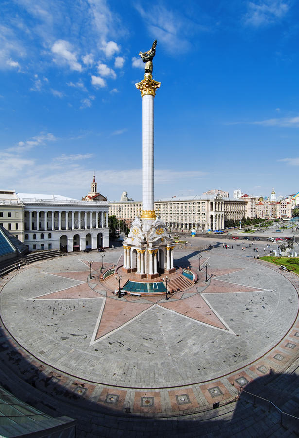 Download Independence Square In Kiev Stock Image - Image of cloud, blue: 13974581
