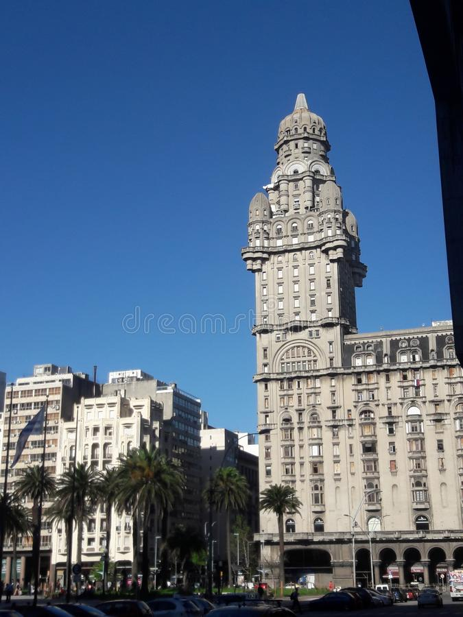 Independence Square Montevideo Uruguay architecture. Travel, tourism royalty free stock photo