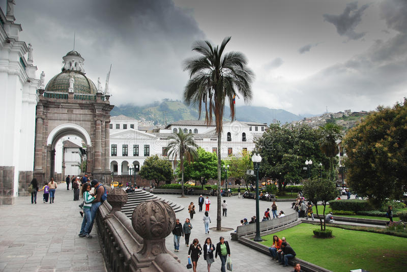 Independence Square in Quito royalty free stock images