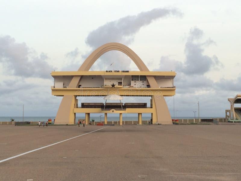 Independencia Accra cuadrada imagenes de archivo