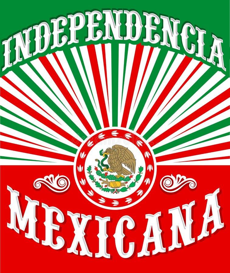 Independencia Mexicana - independência mexicana ilustração stock