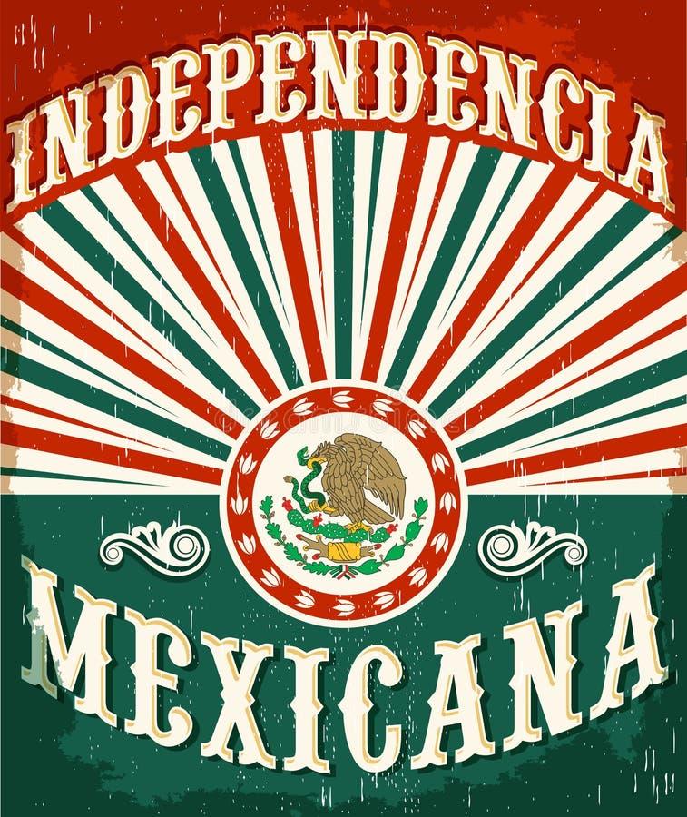 Independencia Mexicana - Meksykańska niezależność ilustracja wektor