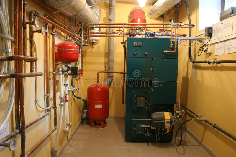 Independent heating. In a modern house royalty free stock photos