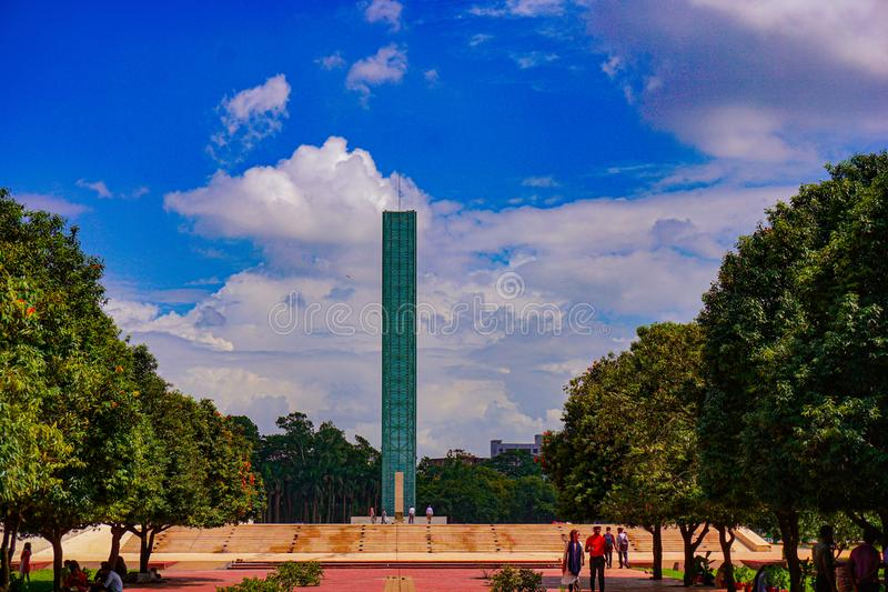 Independent Tower and War Museum, Independent Park Freedom Square of Shahbagh-Dhaka-Bangladesh. Swadhinata Stambha. Independent Tower and War Museum, Freedom stock image