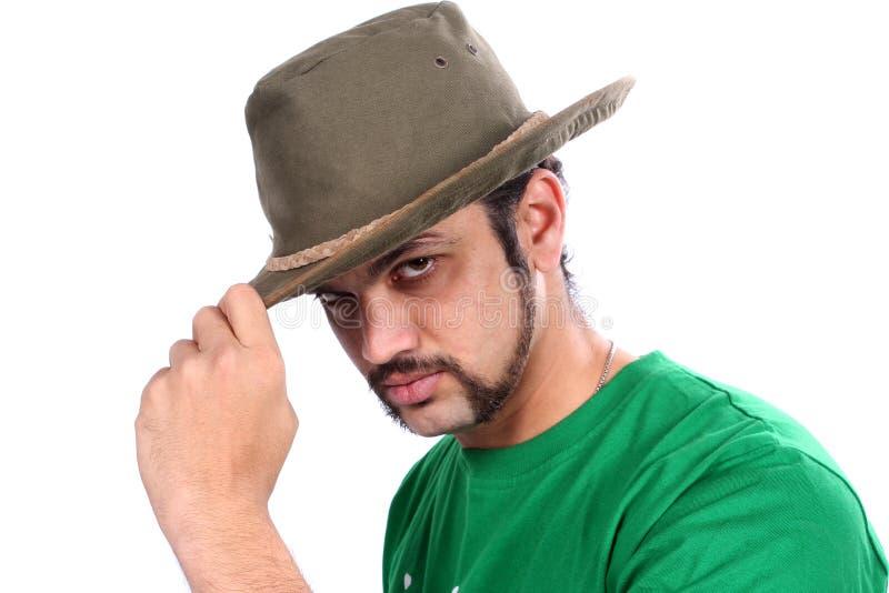 Inder, der einen Hut trägt lizenzfreie stockfotos