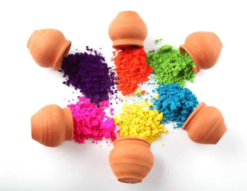 Inder Holi-Festivalfarben stockfoto