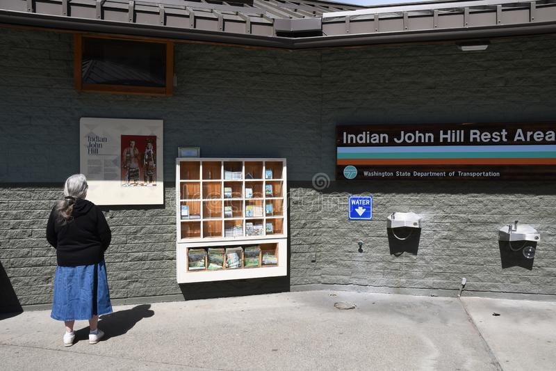 Inder-Joh Hill-Ruhezone in Cle Elum Washington USA lizenzfreie stockfotografie