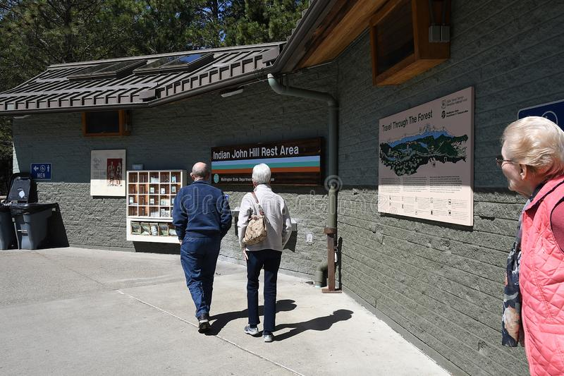 Inder-Joh Hill-Ruhezone in Cle Elum Washington USA lizenzfreie stockbilder