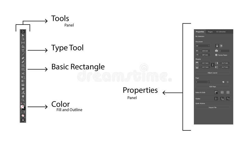 Indesign_Tutorial图象2 免版税库存图片