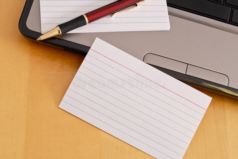 Index Card Royalty Free Stock Images