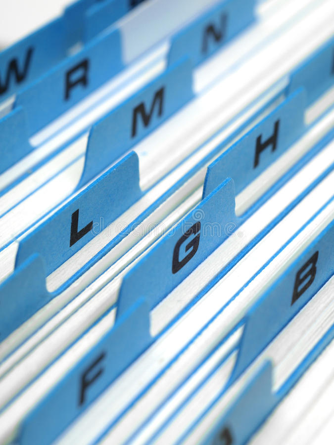 Free Index Card File System Stock Images - 15307654