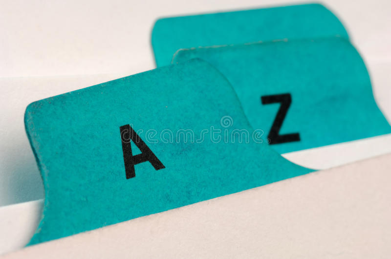 Index cards royalty free stock image