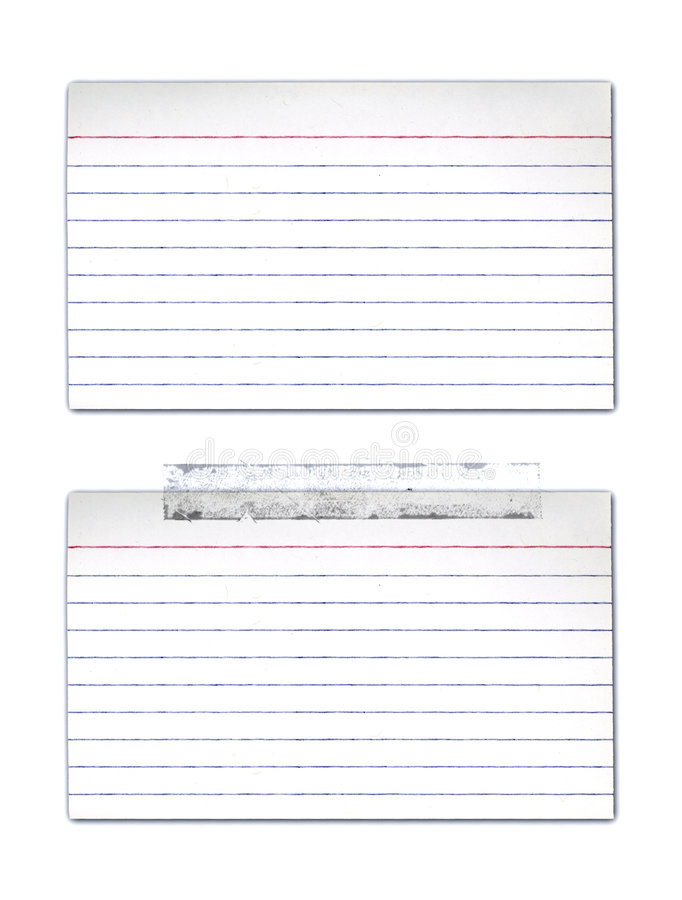 Index Cards. With and without tape stock illustration