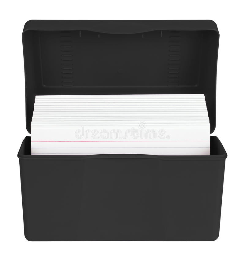 Download Index Cards in box stock photo. Image of card, blank - 26412390