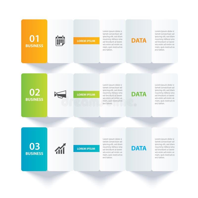 Index de papier d'Infographics avec le calibre de 3 données Fond d'abr?g? sur illustration de vecteur Peut être employé pour la d illustration de vecteur