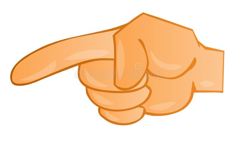 Index finger. Pointing at something vector illustration