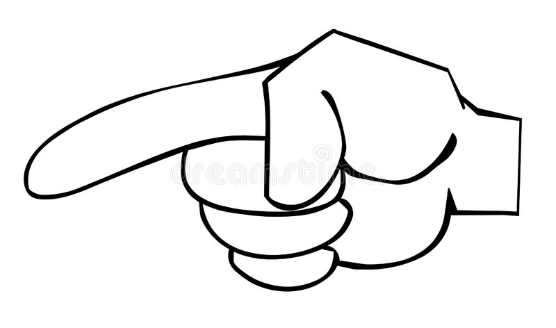 Index finger. Pointing at something royalty free illustration
