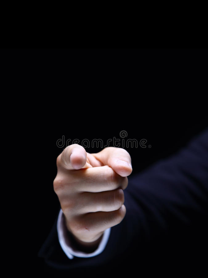 Download Index Finger On Black Stock Photos - Image: 18382623