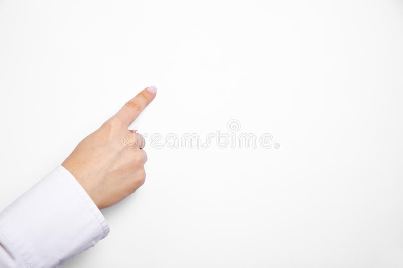 Download Index Finger On Flipchart Paper Royalty Free Stock Photo - Image: 26037265