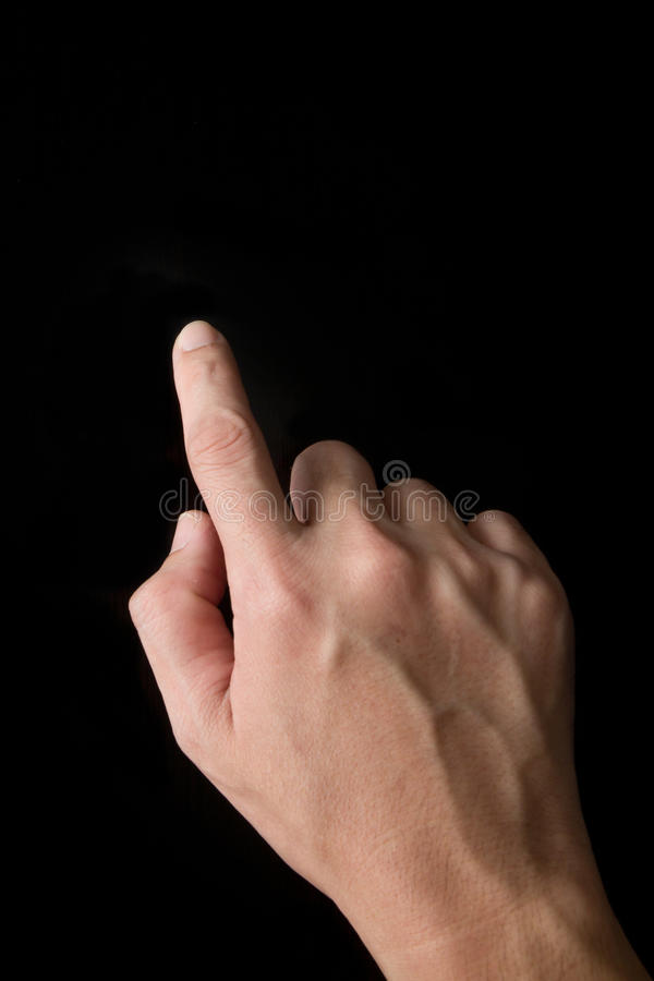 Index Finger Touching Stock Photography