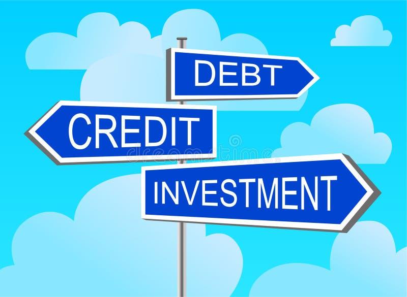 Index-Investition, Gutschrift, Schuld vektor abbildung