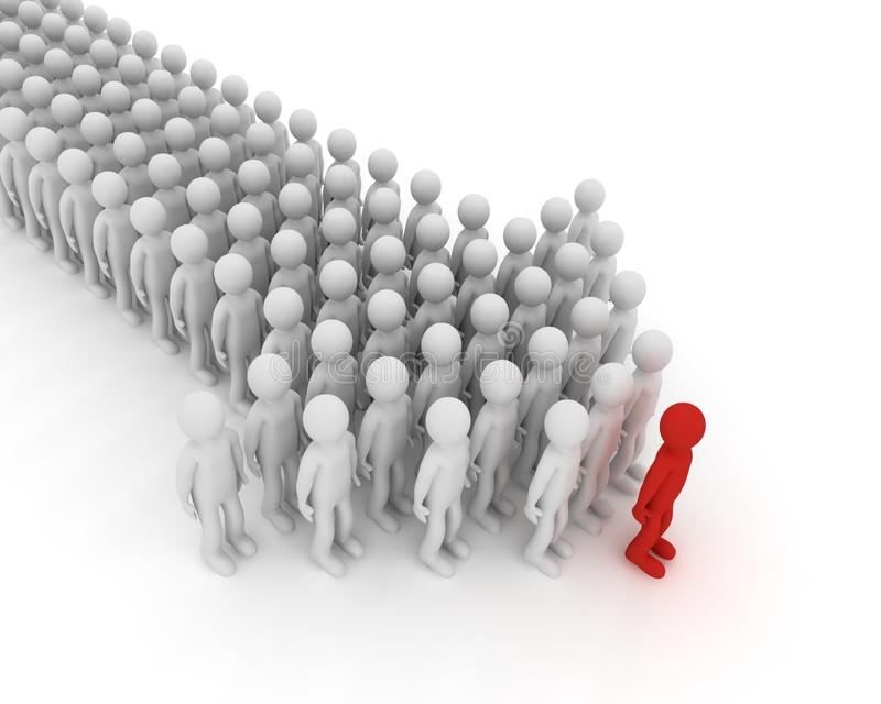 Download Index Made Of People. 3D Image. Royalty Free Stock Photography - Image: 25197917