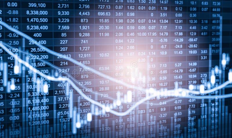 Indexez le graphique de l'analyse financière d'indicateur de marché boursier sur la LED photos libres de droits