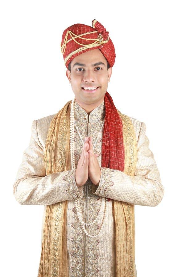 Indiër in traditionele kleren. stock foto