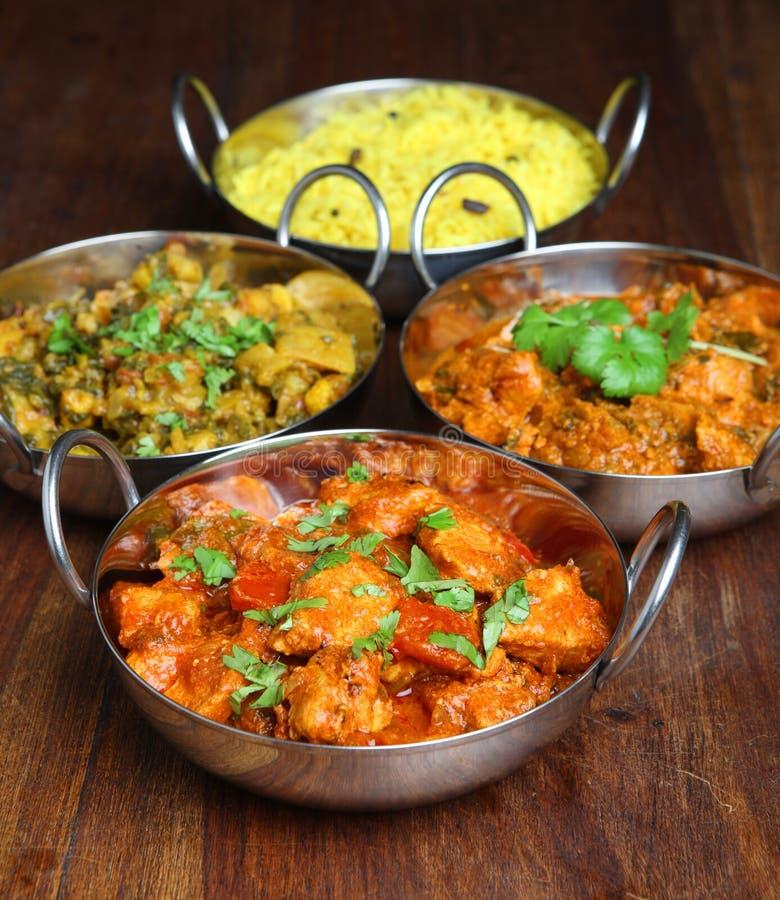 Indiańscy currych naczynia zdjęcia stock