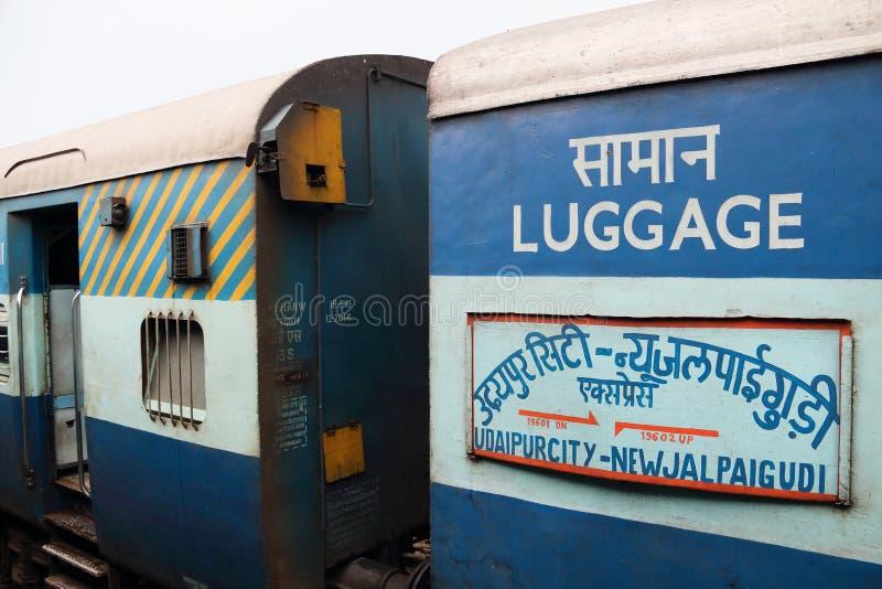Indiańscy pociągi fotografia stock