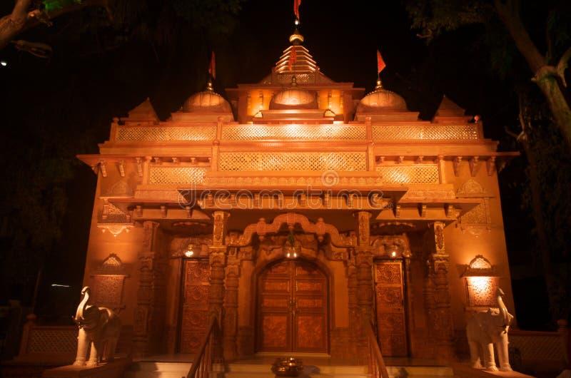 Indiańska świątynia przy nocą obraz royalty free