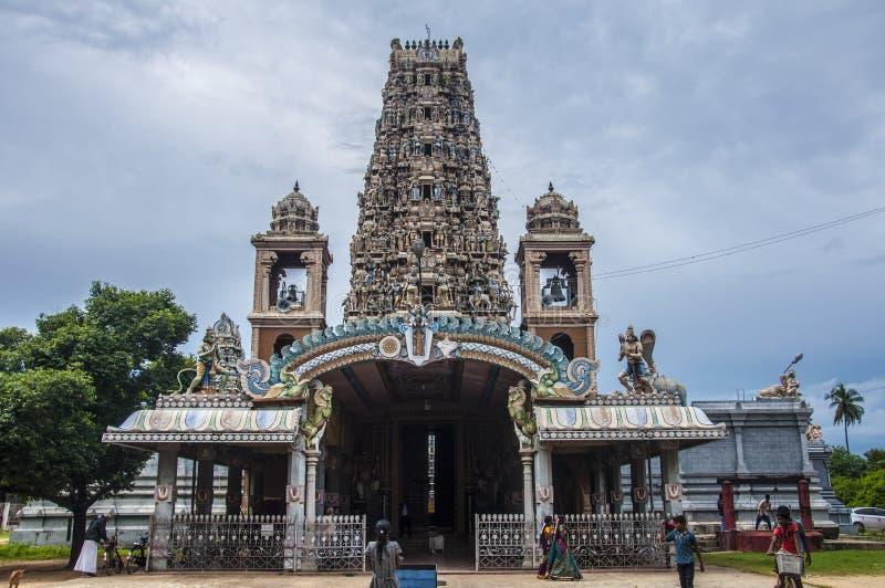Indiańska świątynia z pięknym gopuram zdjęcia stock