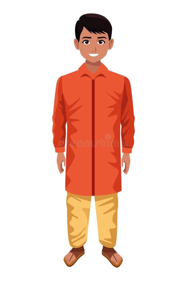 Indiańska chłopiec jest ubranym tradycyjny hinduskiego odziewa royalty ilustracja