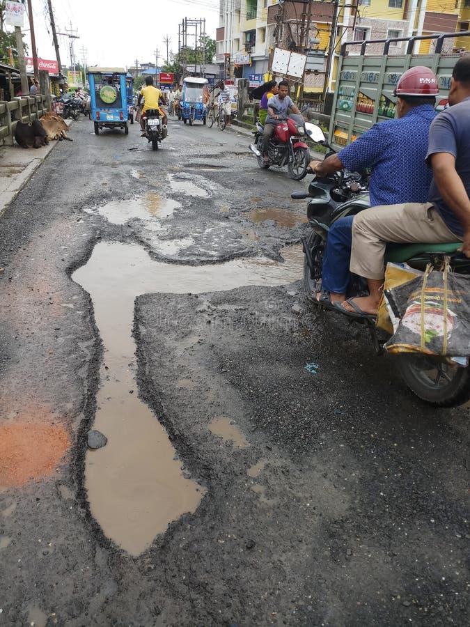 Indiańska droga w porze deszczowej fotografia royalty free