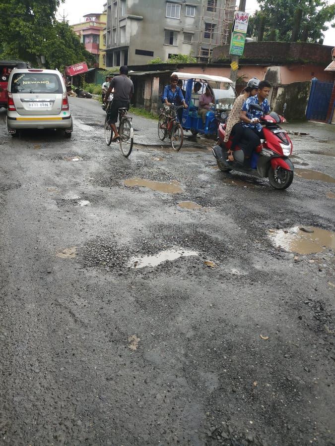 Indiańska droga w porze deszczowej fotografia stock
