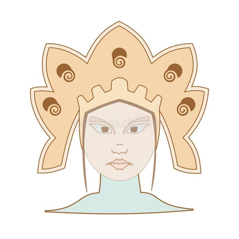Indiańska dziewczyna obraz royalty free