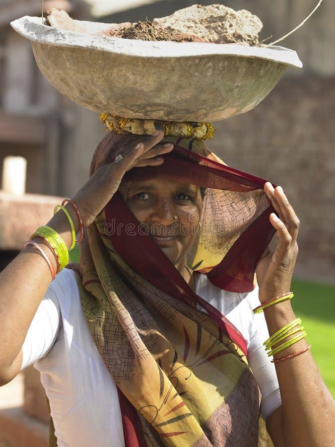 Indiańska Kobieta - Fatehpur Sikri obrazy royalty free