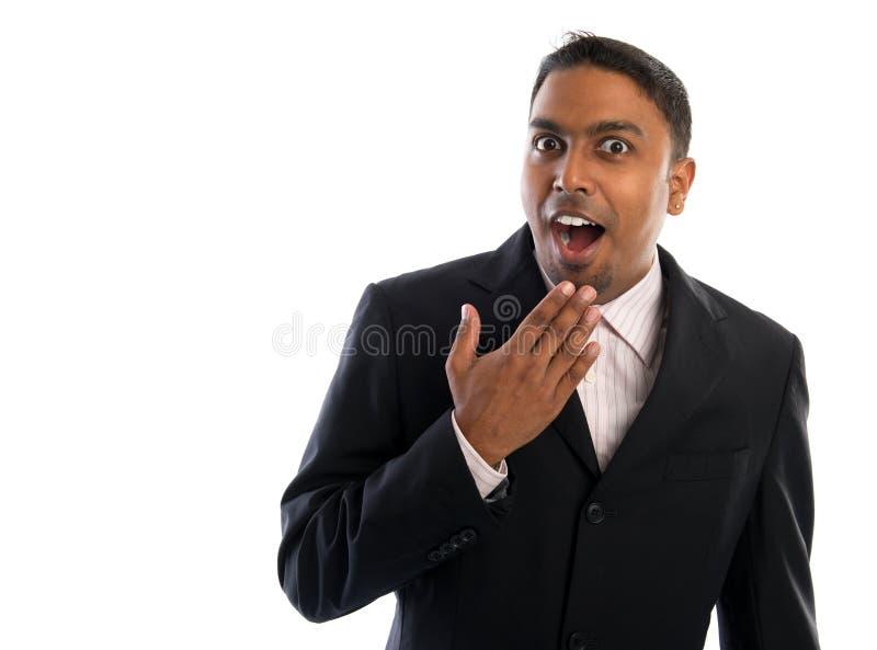 Indiańska mężczyzna niespodzianka. obraz stock