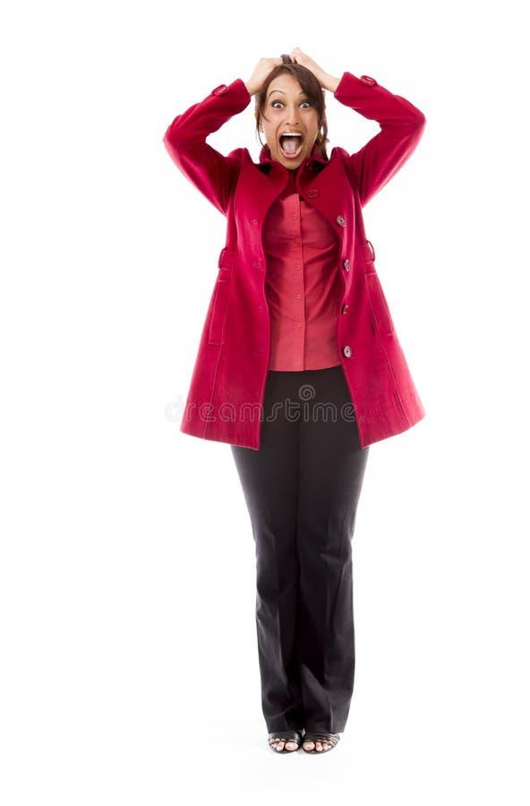 Download Indiańska Młoda Kobieta Ciągnie Jej Włosy I Krzyczy W Frustraci Obraz Stock - Obraz złożonej z niepowodzenie, 1: 41950267