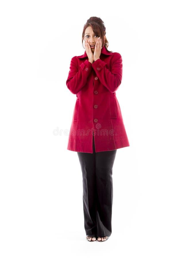 Download Indiańska Młoda Kobieta Okaleczająca Z Głową W Rękach Zdjęcie Stock - Obraz złożonej z osoba, spodnia: 41950270