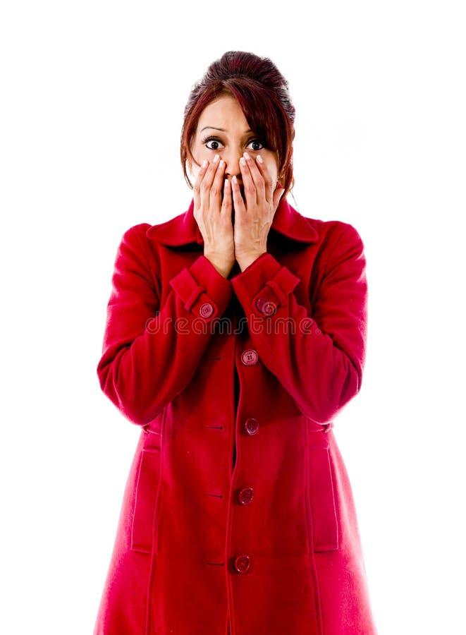Download Indiańska Młoda Kobieta Patrzeje Szokujący Zdjęcie Stock - Obraz złożonej z niespodzianka, widok: 41950430