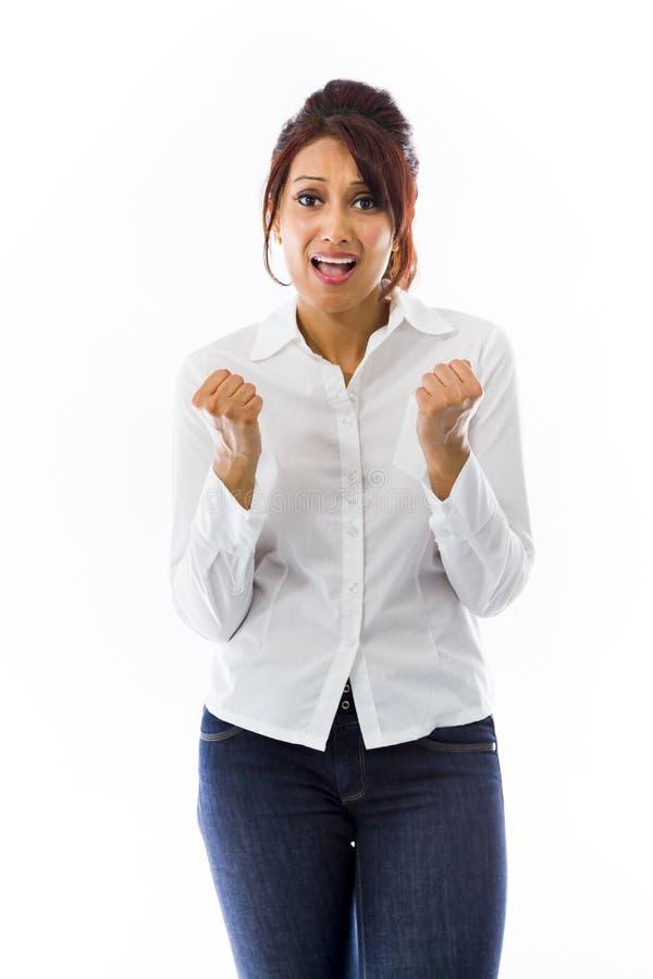 Download Indiańska Młoda Kobieta Patrzeje Udaremniający I Martwiący Się Zdjęcie Stock - Obraz złożonej z depresja, azjata: 41951408