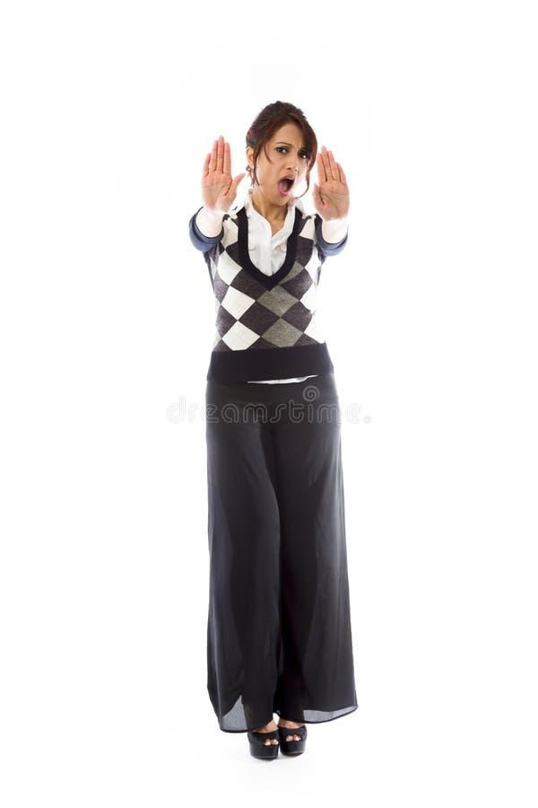 Download Indiańska Młoda Kobieta Robi Przerwie Gestykulować I Pokazuje Przerwę Zdjęcie Stock - Obraz złożonej z kolor, azjata: 41951036