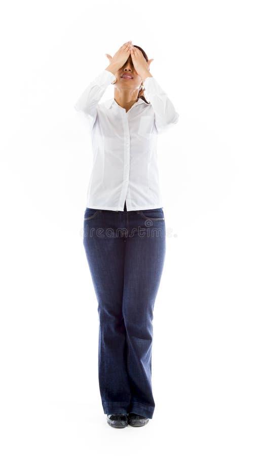 Download Indiańska Młoda Kobieta Rozczarowywająca Zdjęcie Stock - Obraz złożonej z widok, osoba: 41951212